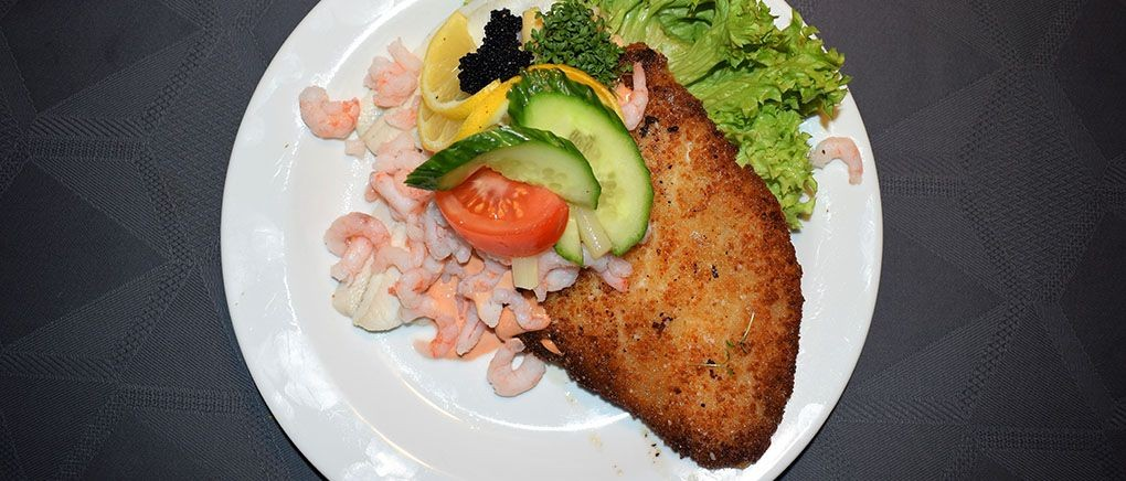 Lækker mad på restaurant i Ribe bymidte